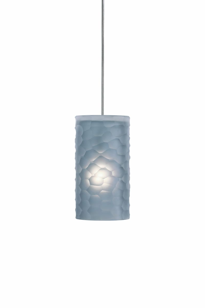 2 Thousand Degrees 700TDEDGP Gray Edge Art Deco Retro Single Light Mini Pendant from the Edge Collection 700TDEDGP