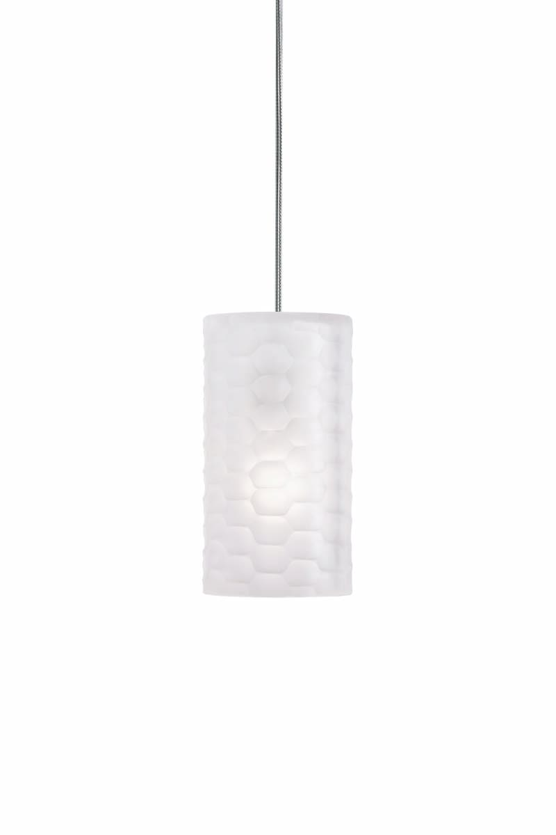 2 Thousand Degrees 700TDEDGP Crystal Edge Art Deco Retro Single Light Mini Pendant from the Edge Collection 700TDEDGP