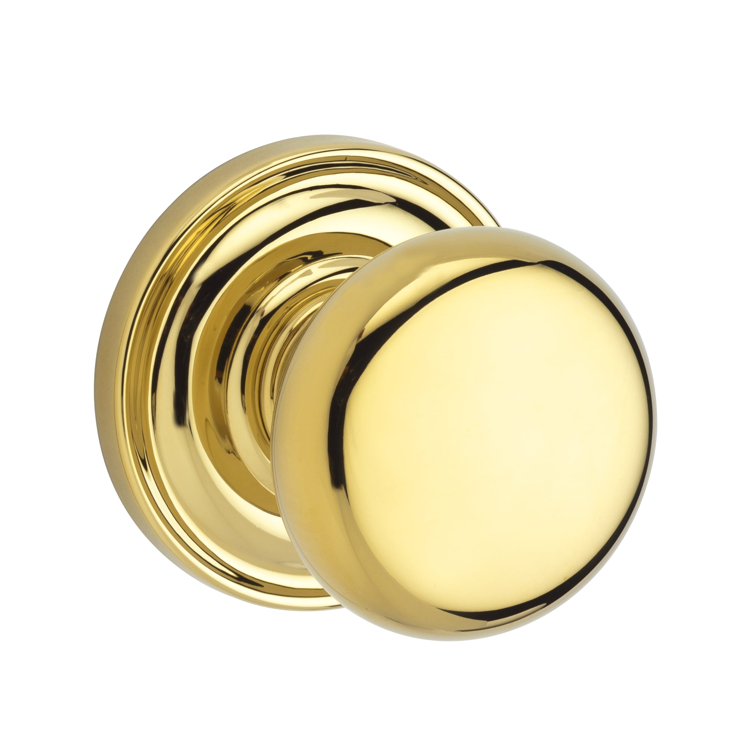 baldwin pvroutrr003 polished brass reserve round knob round
