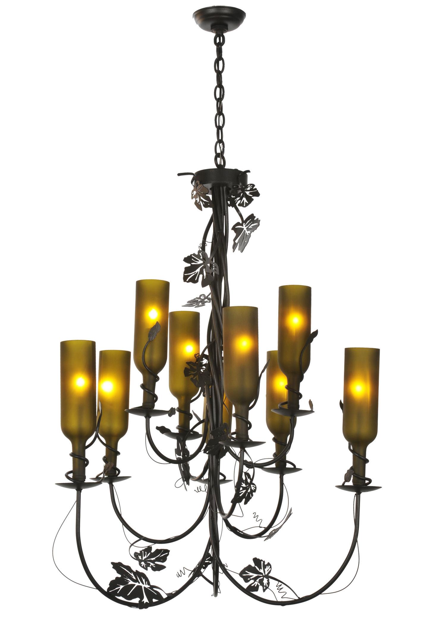 Wine bottle chandeliers chandelier online for How to make a bottle chandelier