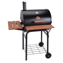 Char-Griller 2123 Wrangler 635 Square Inch Charcoal Grill / Smoker