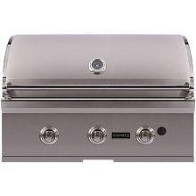 btu 34 inch wide builtin three burner liquid propane grill from the c coyote cc3lp - Coyote Grills