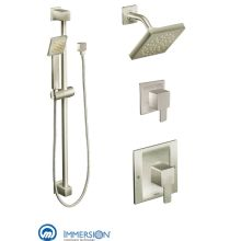 moentrol shower system with rain shower diverter and hand shower from the 90 degree moen 835