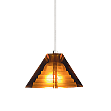 Tech Lighting Pyramid Pendant-Amber