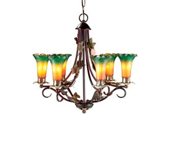 Dale Tiffany TH101144 Antique Bronze Victorian 6 Light Lily Chandelier