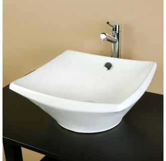 Kingston Brass EV4220KS841.DL Square Vitreous China Vessel Sink