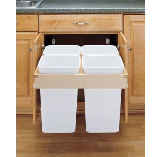 Pull Out Trash And Recycling Cans Build Com