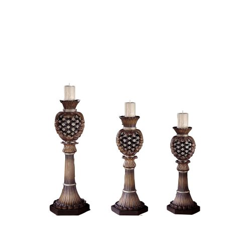 Ambience AM 40834 Traditional/Classic Candle Holders with Tuscan Bronze finish