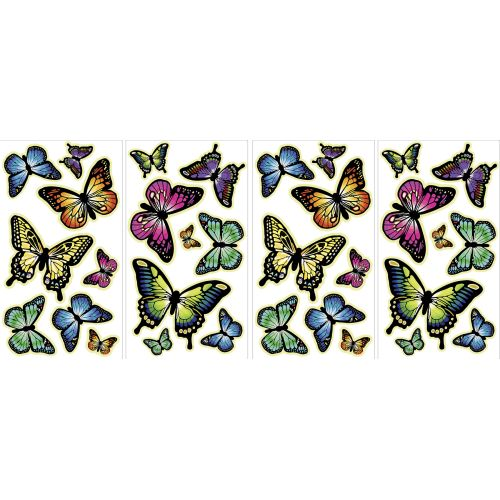 Brewster-MS0107-Butterflies-Glow-in-the-Dark-Wall-Art-Kit