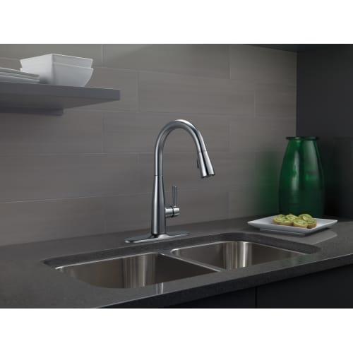 Delta 9113 Rb Dst Essa Pull Down Kitchen Faucet W