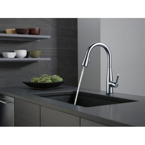 Delta 9113t Dst Essa Pull Down Kitchen Faucet With On Off