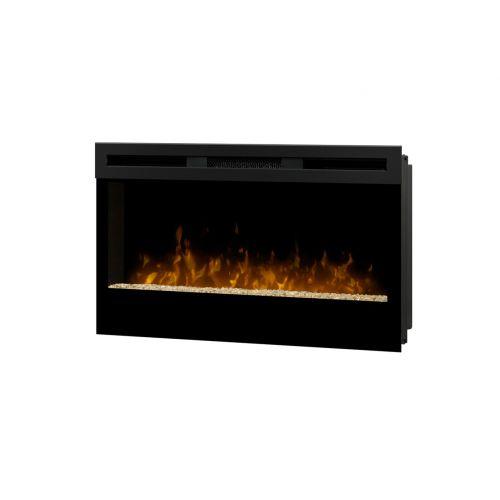 dimplex blf34 4163 btu wall mount electric fireplace w remote control ebay. Black Bedroom Furniture Sets. Home Design Ideas