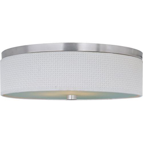 Et2 lighting e95004100 elements 3 light flush mount ebay et2 e95004 100sn elements 3 bulb flush mount indoor ceiling fixture fabric sha aloadofball Image collections