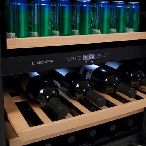 edgestar cwb1760fd 24 inch wide wine and beverage cooler wit