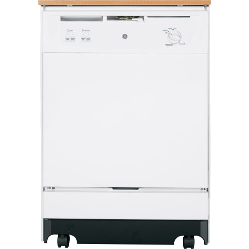 GE GSC3500D Portable Energy Star Dishwasher with Woodgrain Laminate Top and Food