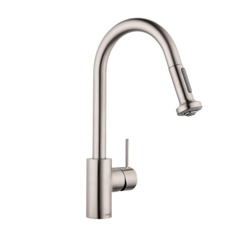 Hansgrohe Kitchen Taps >> Hansgrohe 6801 Talis S Variarc Spray Kitchen Faucet, Single Hole w/ Swivel Spout | eBay