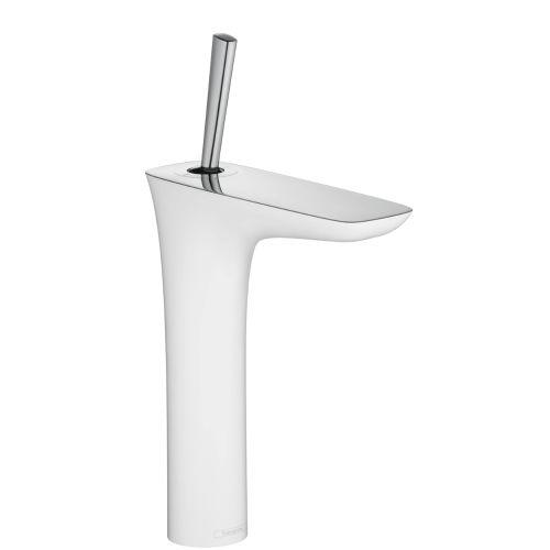Hansgrohe 15081 Chrome / White PuraVida Bathroom Faucet Vessel ...
