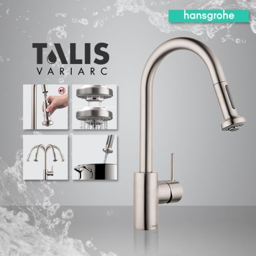 hansgrohe 6801 talis s variarc spray kitchen faucet. Black Bedroom Furniture Sets. Home Design Ideas