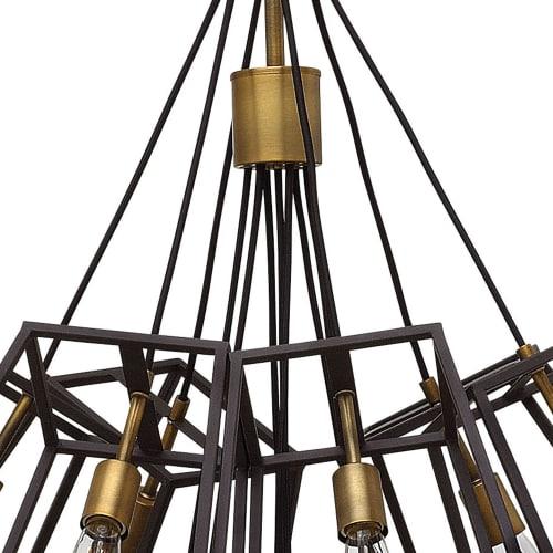 hinkley lighting 3357bz 7 light large multi light pendant fulton