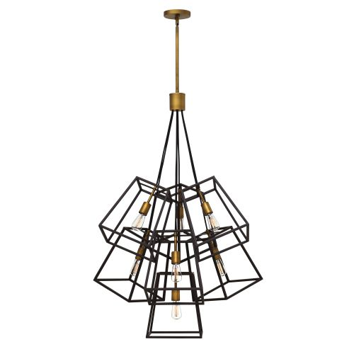 Hinkley lighting 3357 7 light large multi light pendant from the fulton collecti
