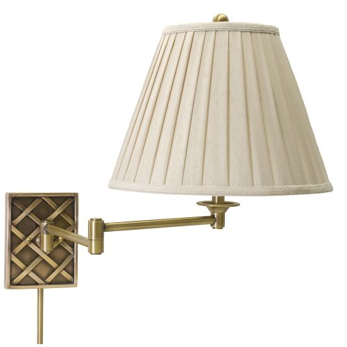 House of Troy WS760 Decorative 1 Light Swing Arm Wall Sconce with Woven Pattern