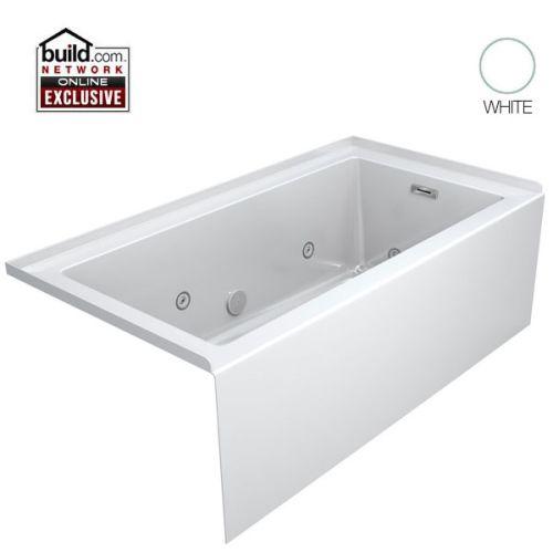 """Jacuzzi LNS6032WRL2HXWC 60"""" X 32"""" Drop-In Whirlpool Tub"""