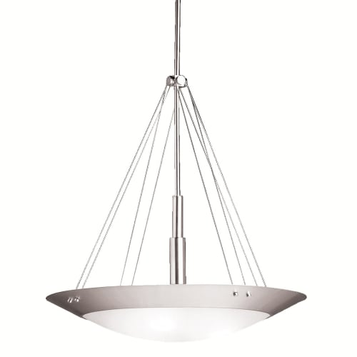 Kichler 3244 Brushed Nickel Modern Three Light Bowl Pendant from the Structures