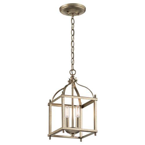 kichler lighting 42565oz larkin 2 light foyer pendant olde bronze