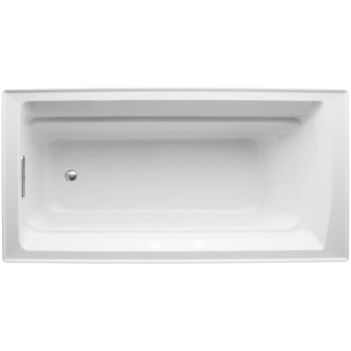 Kohler K 1125 White Archer Collection 72 Drop In Soaker Bath Tub With Slotted Ebay