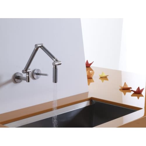 kohler k 6228 wall mount kitchen faucet from karbon collection ebay. Black Bedroom Furniture Sets. Home Design Ideas