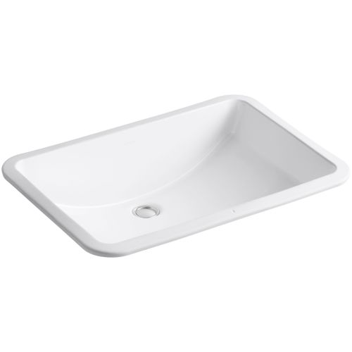 Ebay for Kohler ladena white undermount rectangular bathroom sink with overflow
