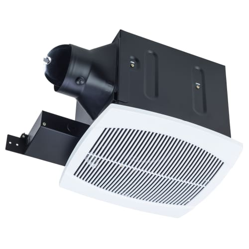 Quiet Duct Fan : Miseno mbf wh white cfm ceiling mounted exhaust fan