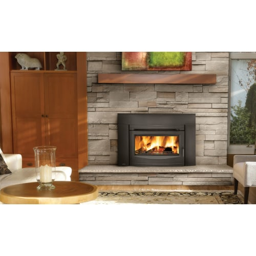 Napoleon epi3c 55000 btu insert wood burning fireplace w for Modern wood burning insert