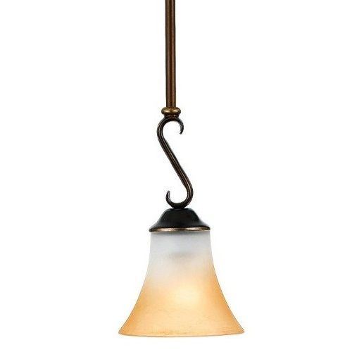 Quoizel DH1506 Palladian Bronze Duchess 1 Light Mini Pendant with Marble Glass