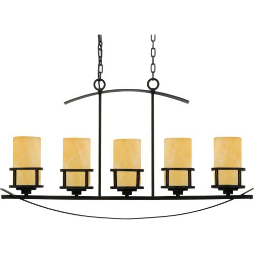 Quoizel ky540ib kyle 5 light 40 linear chandelier w onyx pillar quoizel ky540 kyle 5 light 40 linear chandelier with onyx pillar candle shades aloadofball Gallery