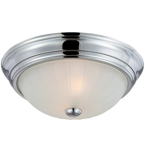 Quoizel ml183es melon 2 light 13w flush mount ceiling fixture with image is loading quoizel ml183es melon 2 light 13 034 w aloadofball Choice Image