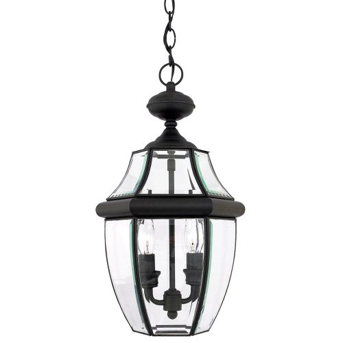 quoizel ny1178k newbury 2 light 10 inch mystic black outdoor hanging