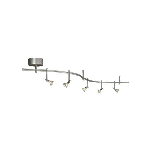 Decorative Track Lighting tiella 800ral5mkn 5 light satin nickel flexible spire rail track