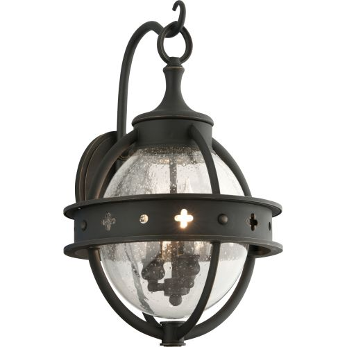 Troy Lighting B3682 Mendocino 3 Light Outdoor Wall Sconce With Seedy Gl