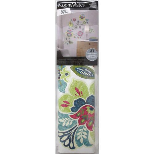 York wallcoverings rmk2468gm boho floral peel and stick Floral peel and stick wallpaper