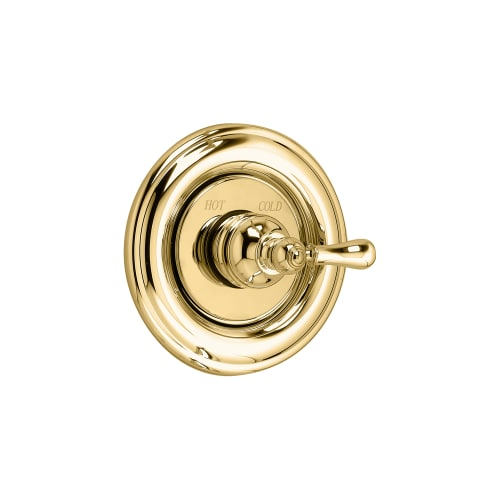 American Standard T211.730.099 Polished Brass Hampton Single Handle Valve Trim Only with Metal Lever Handle from the Hampton Collection T211.730