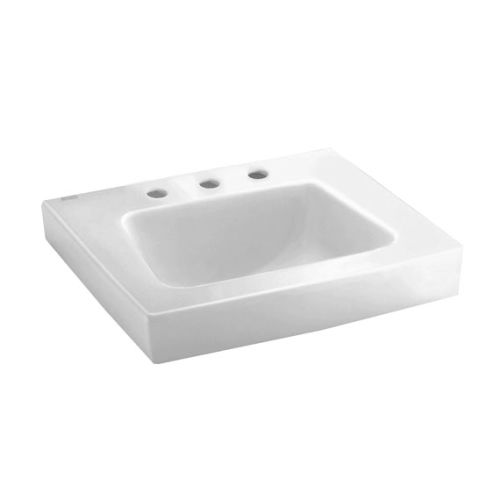 ... 194 019 White Roxalyn Wall Mounted Bathroom Sink with 20 Leng eBay