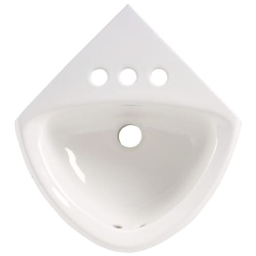 American Standard 451 021 White Corner Mounted Wall Mounted Bathroom ...