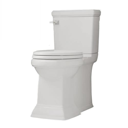 American Standard 2817.128.020 White Town Square Town Square Elongated Luxury Two-Piece Toilet with Concealed Trapway, EverClean Surface, PowerWash Rim and Righ