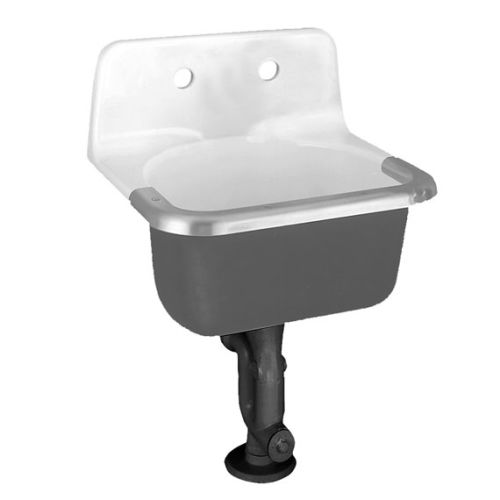 Utility Mop Sink : ... 7692 008 020 Lakewell Wall Mounted Cast Iron Utility Sink With eBay