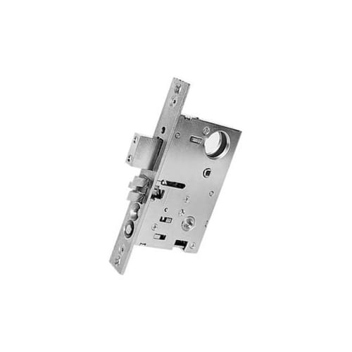 Baldwin 6070150L Satin Nickel Mortise Lock Left Handed Dormitory and Exit Mortise Lock with 2-3/4