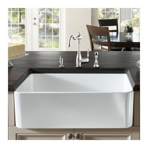 33 Inch Farmhouse Sink White : ... Cerana 33 inch Farmhouse Kitchen Sink Apron Front Fireclay Sink eBay