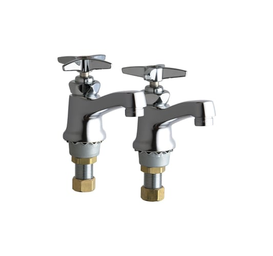 Chicago Faucets 700-PRABCP Chrome  Single Supply Hot / Cold Water