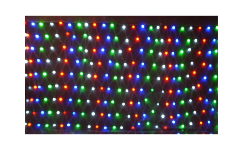 Christmas at Winterland WL-240mm-3M-NL-3CH Multicolor Holiday Net Lights 240 Multicolor LED Net Light with 3 Channel Controller WL-240mm-3M-NL-3CH
