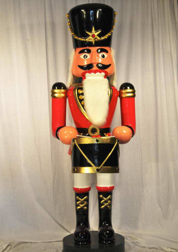 Christmas at Winterland WL-NUT-94-DRUM Multicolor Nutcracker 8 Foot Tall Life Size Nutcracker with Drum Indoor / Outdoor WL-NUT-94-DRUM